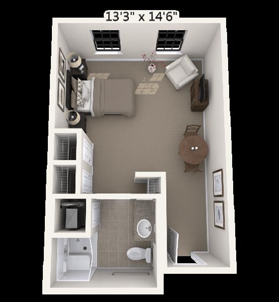 Medley 0 Bedroom Apartment Floor Plan