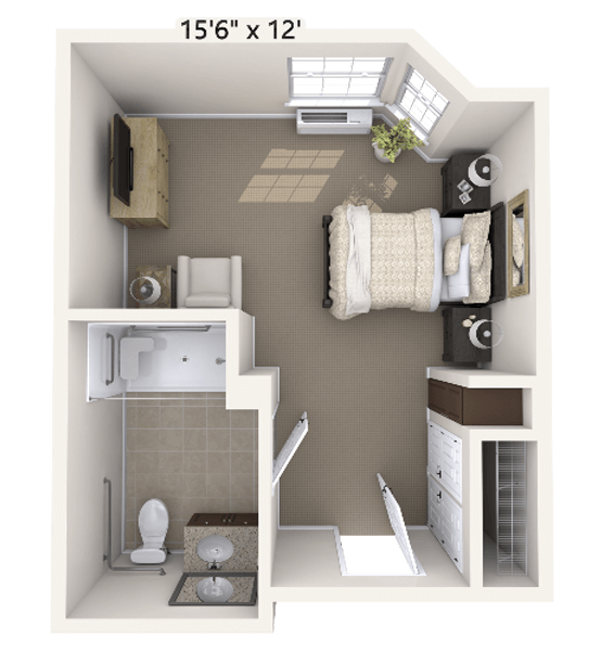 Rhapsody 0 Bedroom Apartment Floor Plan