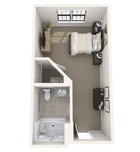 Eagle 1 Bedroom Apartment Floor Plan
