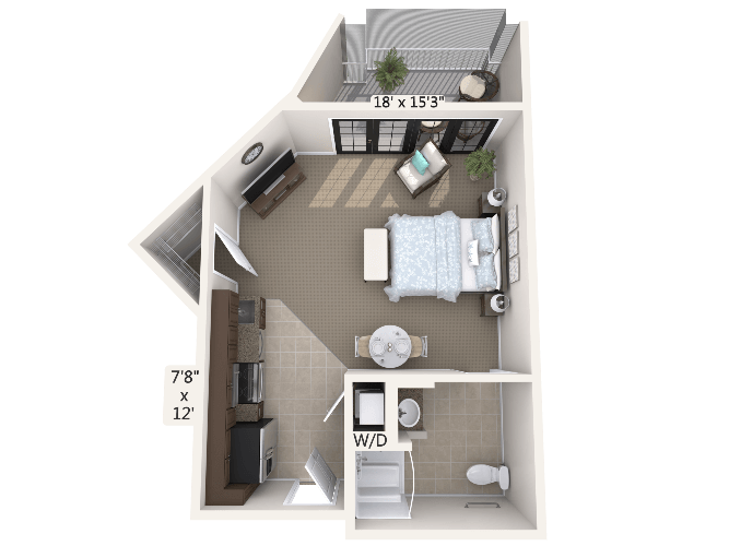 Rhythm 0 Bedroom Apartment Floor Plan
