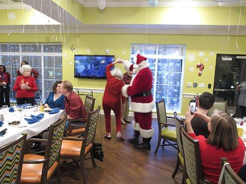 Santa Visits Party